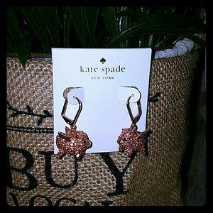 Kate spade pave pig earrings